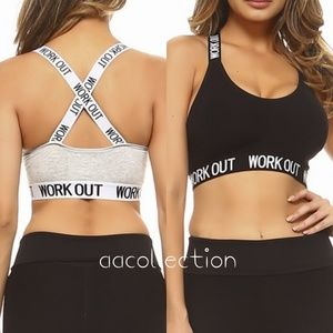 60c0f5c019334 Other - Sports bra workout activewear logo band padded
